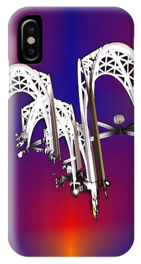 Seattle IPhone X Case featuring the photograph Pacific Science Center Arches by Tim Allen