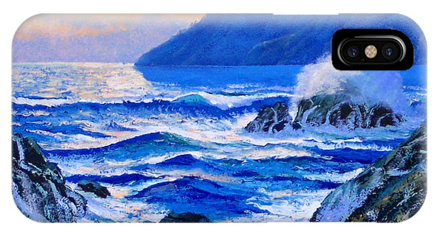 Ocean IPhone X Case featuring the painting Pacific Sunset by Frank Wilson