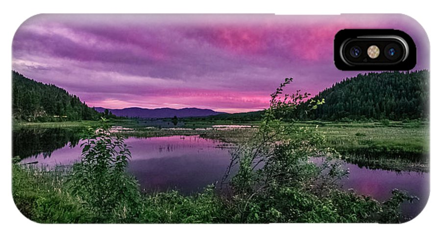 Sunsets IPhone X Case featuring the photograph Pack River Sunset by Josh Smith Photography