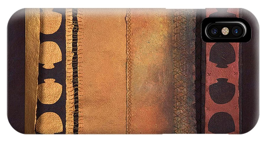 Artistbook IPhone X / XS Case featuring the painting Page Format No.4 Tansitional Series by Kerryn Madsen-Pietsch