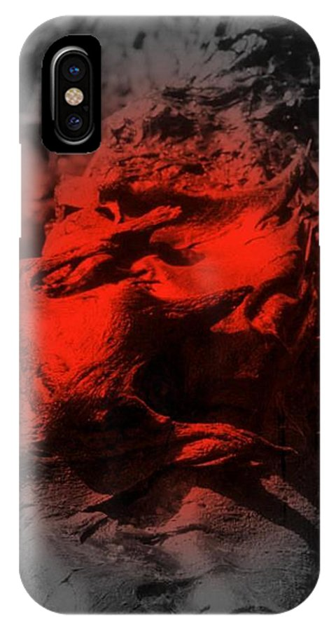 Lava IPhone X Case featuring the digital art Pahoehoe Lava by Dina Holland