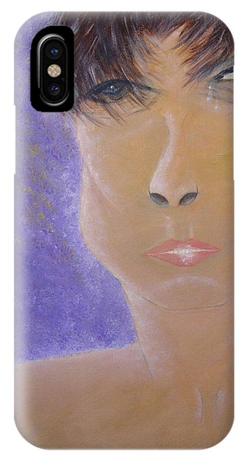 Transexual IPhone X Case featuring the painting Painful Life by Donna Blackhall