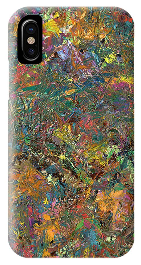 Abstract IPhone X Case featuring the painting Paint Number 29 by James W Johnson