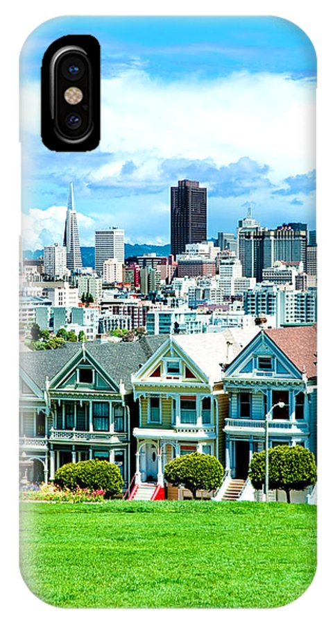 San Francisco IPhone X Case featuring the photograph Painted Ladies by Greg Fortier