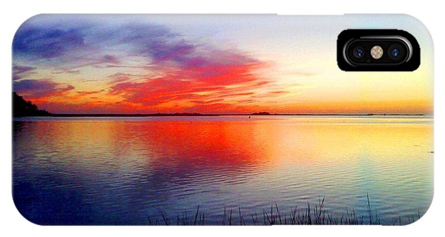 Chesapeake Bay IPhone X Case featuring the digital art Painted Sky by Dawn Johansen