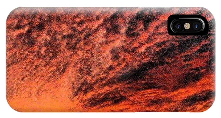 IPhone X Case featuring the photograph Painted Sunset by Richard Brooke