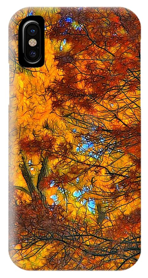 Leaves IPhone X Case featuring the photograph Painterly by Lyle Hatch