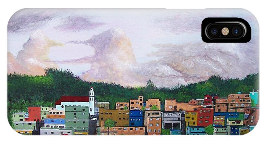Painting The Town IPhone X / XS Case featuring the painting Painting The Town by Tony Rodriguez
