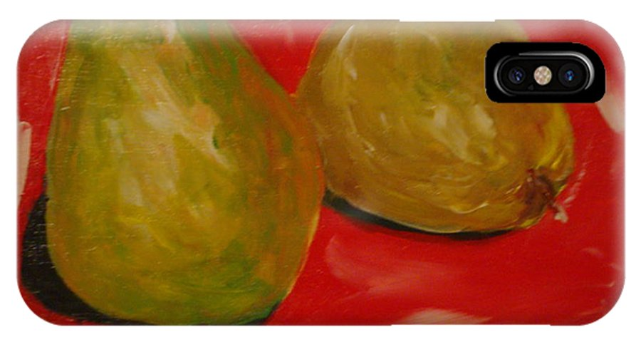 Pears IPhone X Case featuring the painting Pair Of Pears by Melinda Etzold