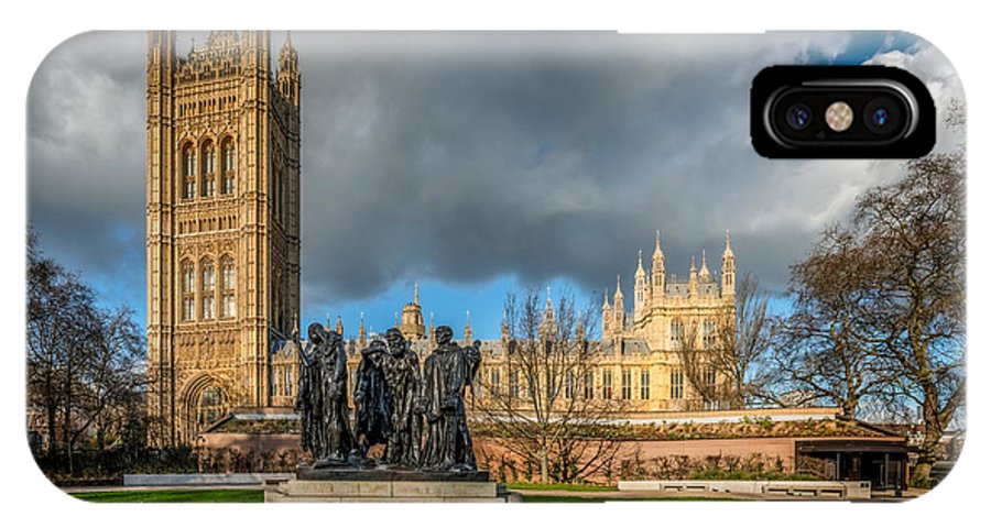 London IPhone X Case featuring the photograph Palace Of Westminster by Adrian Evans