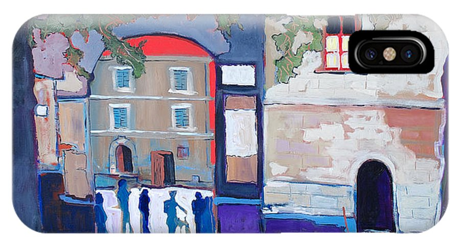 Village IPhone Case featuring the painting Palazzo Di Villafranca by Kurt Hausmann