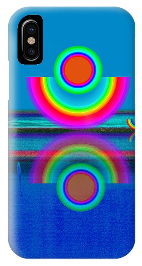 Reflections IPhone X Case featuring the painting Pale Blue Reflections by Charles Stuart
