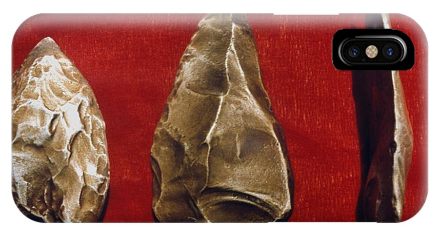 Ancient IPhone X Case featuring the photograph Paleolithic Tools by Granger