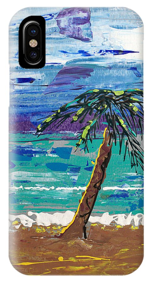 Impressionist Painting IPhone X Case featuring the painting Palm Beach by J R Seymour