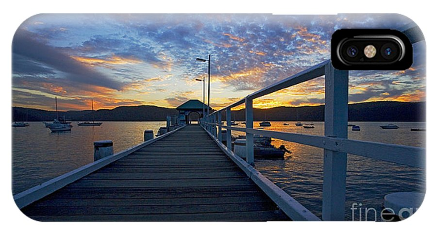 Palm Beach Sydney Wharf Sunset Dusk Water Pittwater IPhone Case featuring the photograph Palm Beach Wharf At Dusk by Sheila Smart Fine Art Photography
