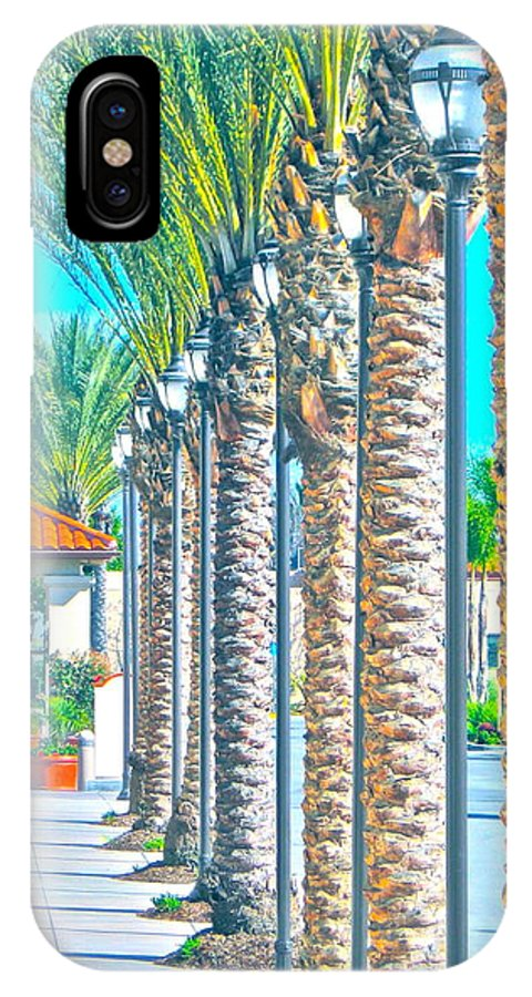 Photograph IPhone X Case featuring the photograph Palm Columns by Gwyn Newcombe