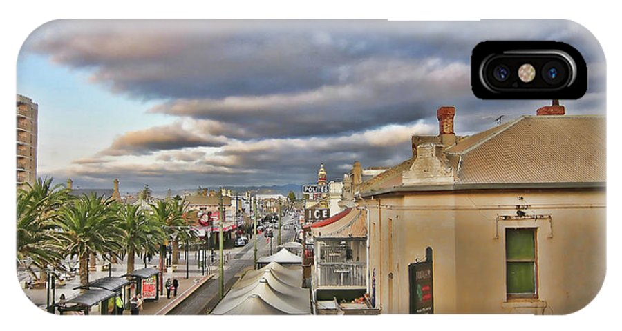 Street IPhone X Case featuring the photograph Palm Lane by Douglas Barnard