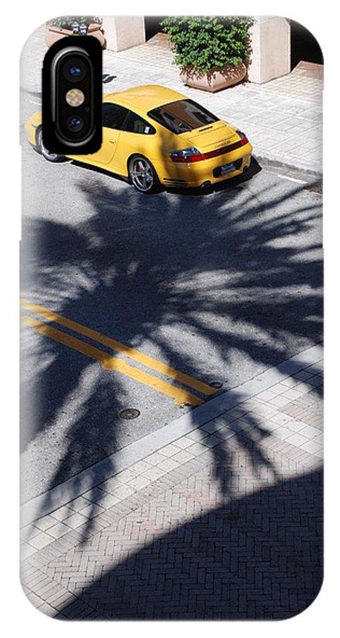 Porsche IPhone X Case featuring the photograph Palm Porsche by Rob Hans