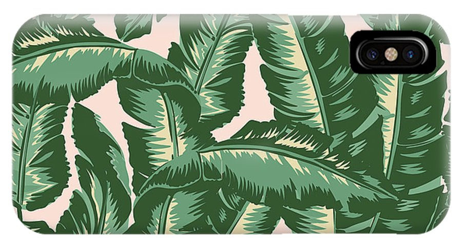 Leaves IPhone X Case featuring the digital art Palm Print by Lauren Amelia Hughes