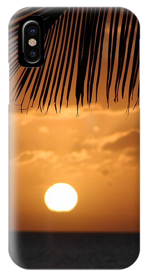 Maui IPhone X Case featuring the photograph Palm Sunset Hawaii by Dustin K Ryan