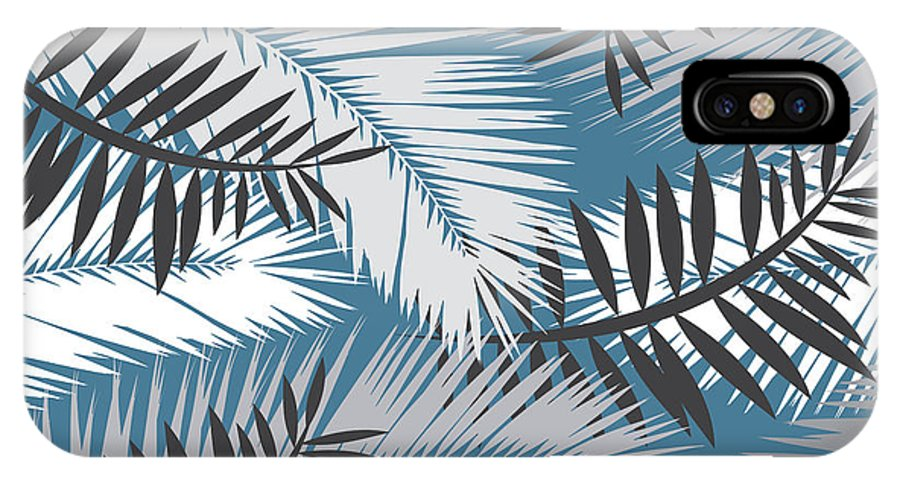Summer IPhone X Case featuring the digital art Palm Trees 10 by Mark Ashkenazi