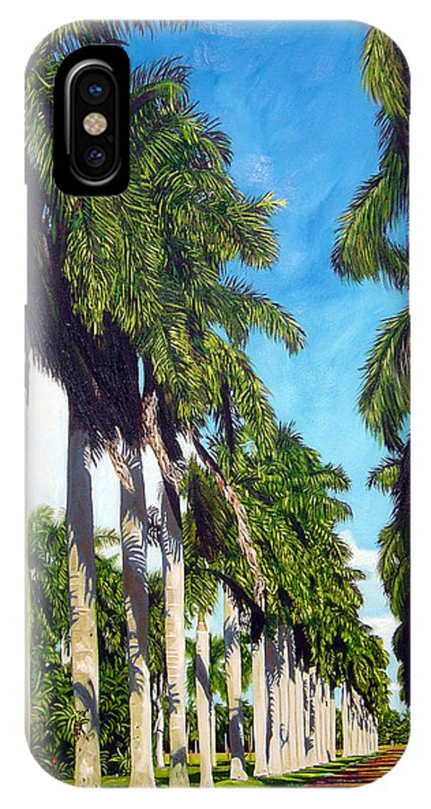 Palms IPhone Case featuring the painting Palms by Jose Manuel Abraham