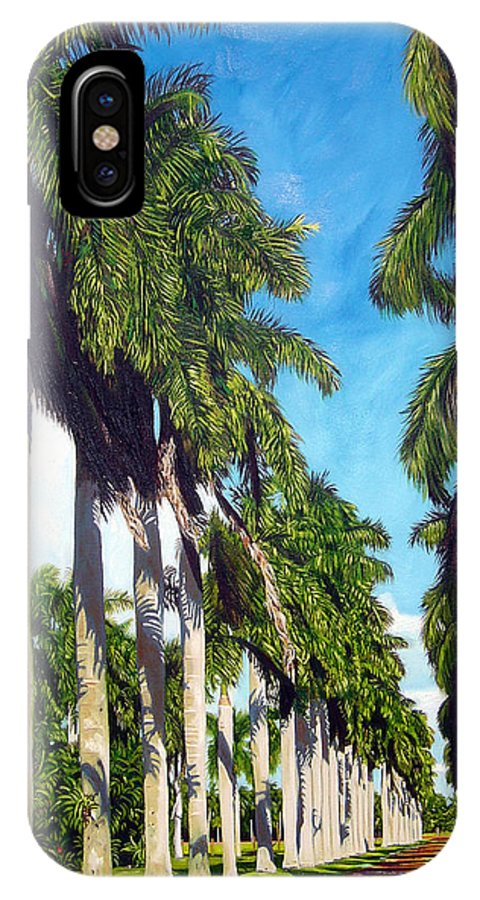 Palms IPhone X Case featuring the painting Palms by Jose Manuel Abraham