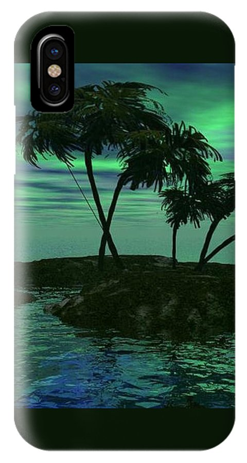Palm Trees IPhone X Case featuring the digital art Palms by Norma Jean Lipert