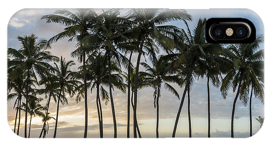 Art IPhone X Case featuring the photograph Palms Of Kauai by Jon Glaser