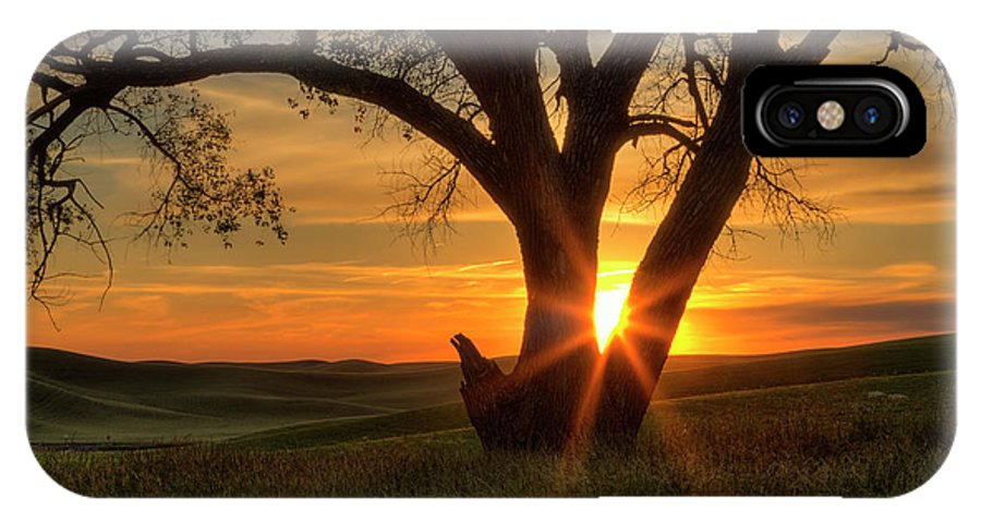 Washington State IPhone X Case featuring the photograph Palouse Sentinel by Mark Kiver