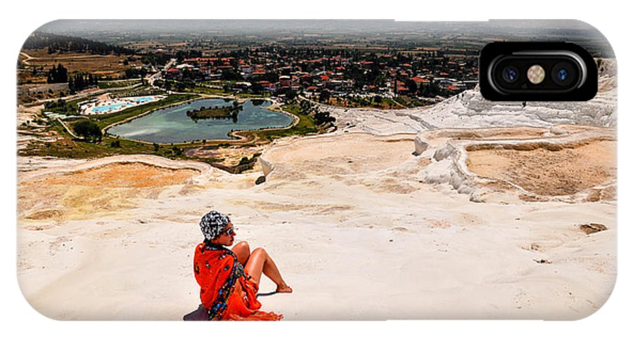 Pamukkale IPhone X Case featuring the photograph Pamukkale Cotton Castle by Freepassenger By Ozzy CG