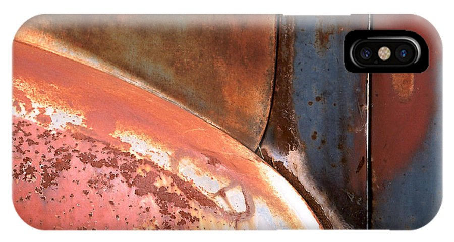 Abstract IPhone X / XS Case featuring the photograph Panel From Ole Bill by Steve Karol