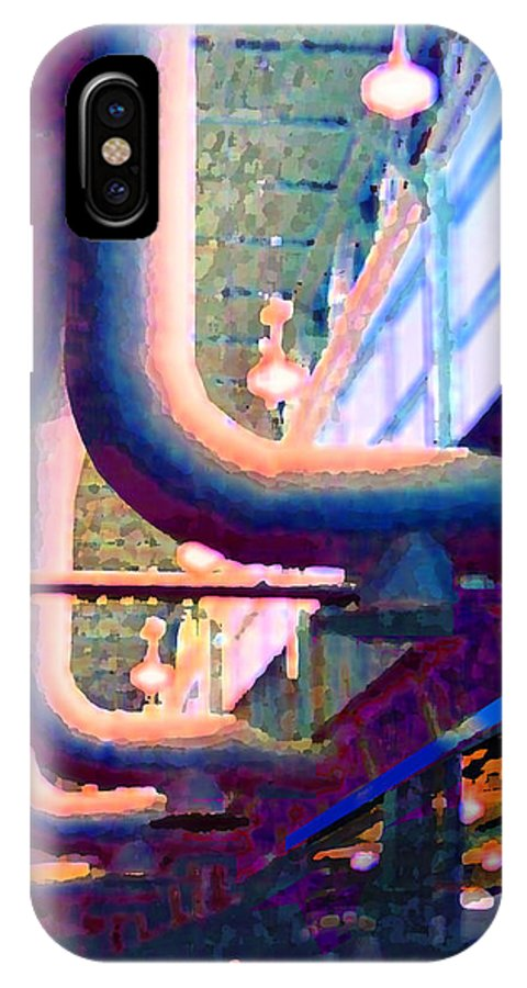Abstract IPhone X Case featuring the photograph panel one from Star Factory by Steve Karol