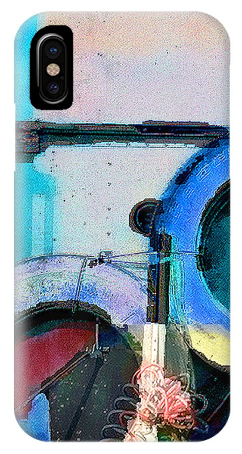 Abstract IPhone X Case featuring the photograph panel three from Centrifuge by Steve Karol