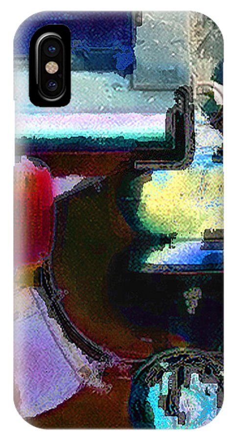 Abstract IPhone X Case featuring the photograph panel two from Centrifuge by Steve Karol