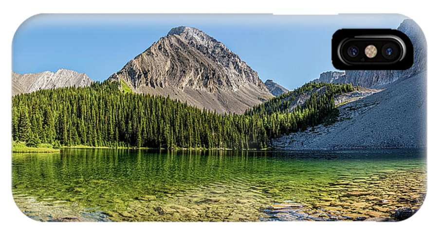 Canada IPhone X Case featuring the photograph Panoramic View Of Chester Lake by Yves Gagnon