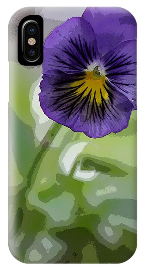 Summer Flower IPhone X Case featuring the photograph Pansy by David Bearden