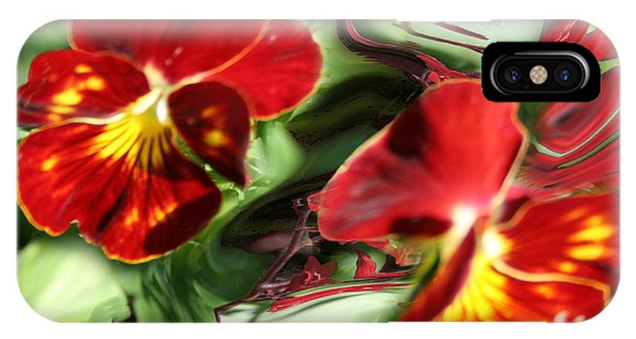 Photograph IPhone X Case featuring the photograph Pansy Hybrid by Jacquie King