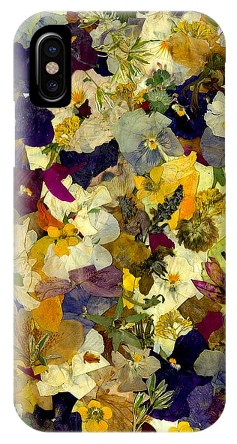 Modern IPhone X Case featuring the photograph Pansy Party by Morgan Shoaff