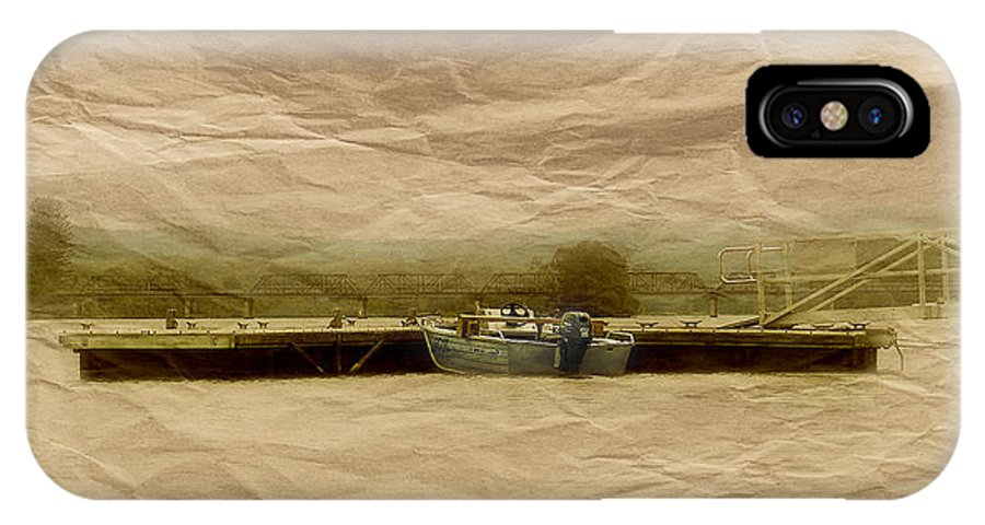 Manning River Taree IPhone X / XS Case featuring the photograph Papper Art 0001 by Kevin Chippindall