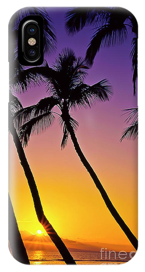 Sunset IPhone X Case featuring the photograph Paradise by Jim Cazel
