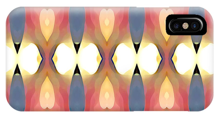 Abstract Art IPhone Case featuring the painting Paradise Repeated by Amy Vangsgard
