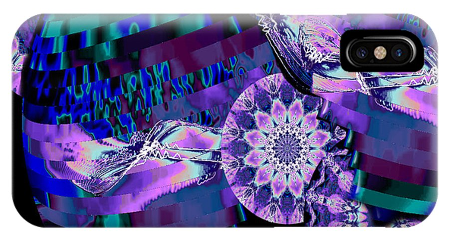 Kaleidoscope IPhone X Case featuring the digital art Paradisio by Charmaine Zoe