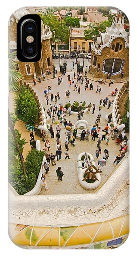Parc Guell IPhone X Case featuring the photograph Parc Guell In Barcelona by Sven Brogren