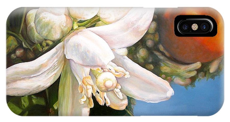 Floral Painting IPhone X Case featuring the painting Parfum D by Muriel Dolemieux