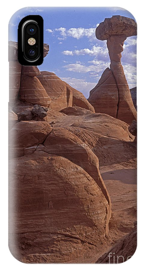 Southwest IPhone X Case featuring the photograph Paria Canyon Hoodoos by Sandra Bronstein