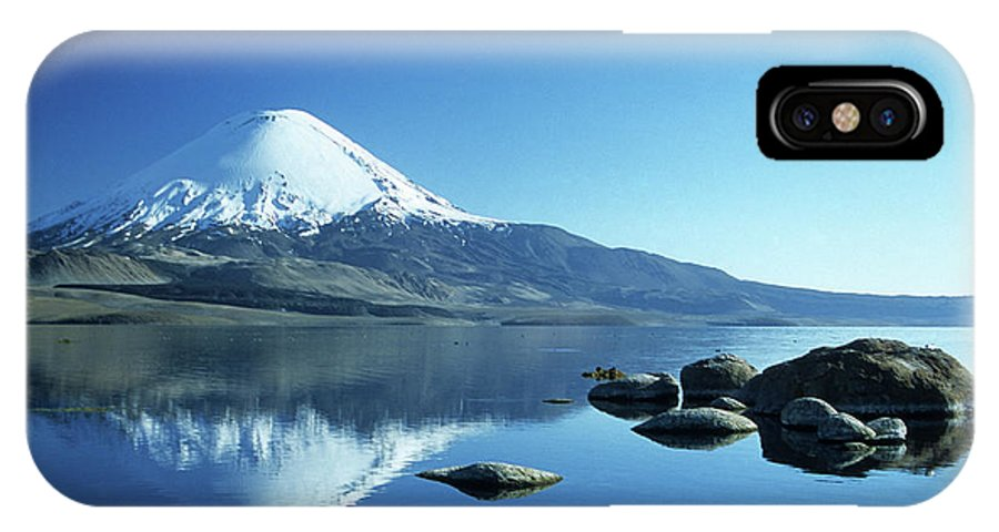 Chile IPhone Case featuring the photograph Parinacota Volcano Reflections Chile by James Brunker