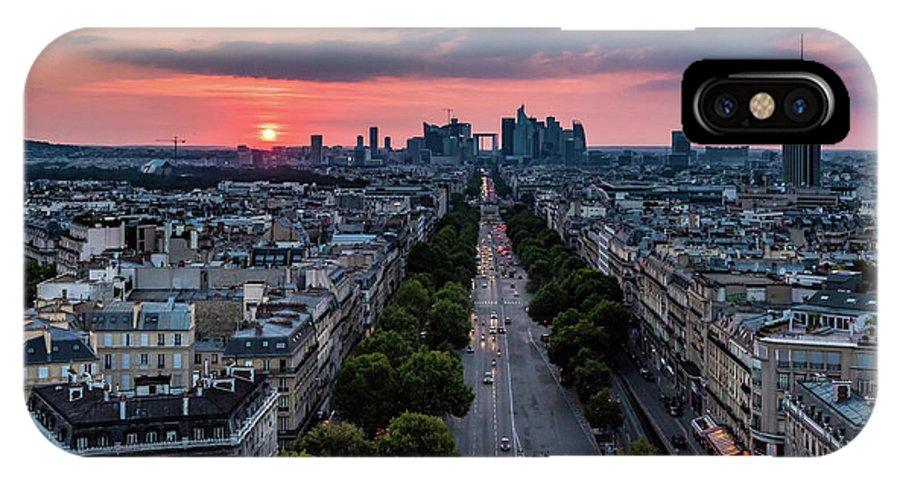 Paris IPhone X Case featuring the photograph Paris, Avenue De La Grande Armee by Patrice Bilesimo