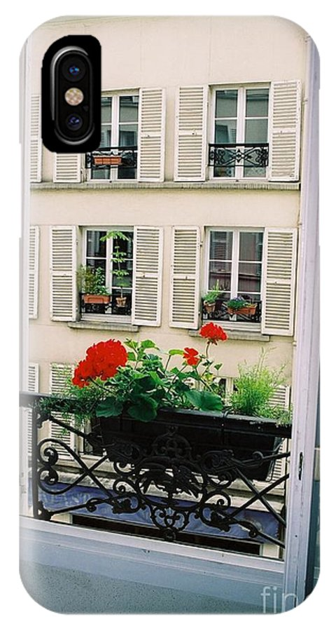 Window IPhone Case featuring the photograph Paris Day Windowbox by Nadine Rippelmeyer