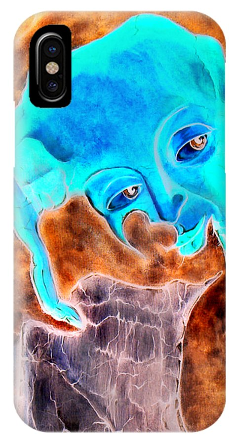 Red Blood Surrealism Color IPhone Case featuring the painting Paris H by Veronica Jackson